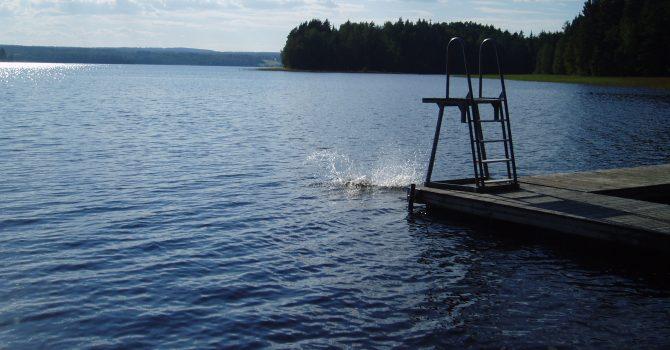 Svartviksbadet i Oresjön