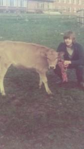 1974. Vid lantbruksskolan i Rättvik